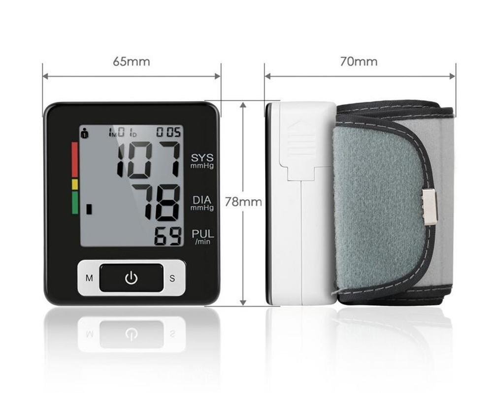 Monitor de Presión Arterial de la Muñeca, Probador Automático de BP Digital con Gran LCD Retroiluminado, Detector de latidos cardíacos irregulares, ...
