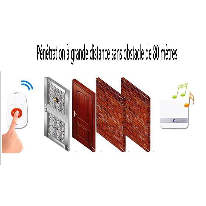 Port/átil Tama/ño Personas Antiguas Anti-Perdida Alarma Buscador Inal/ámbrico /Útil Silbato Sonido LED Localizador de Luz Llavero
