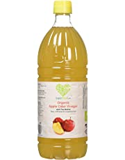 Raw Organic Apple Cider Vinegar with Mother 1000ml - Natural Flavour, Value for Money, Unfiltered, Unpasteurized, ACV, Vegan, Vegetarian Friendly - SuperfoodUK - Safe for Human and Animal Consumption