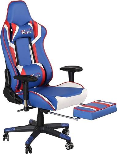 VECELO Computer Gaming High Back Ergonomic Adjustable Executive Swivel PU Leather Chairs
