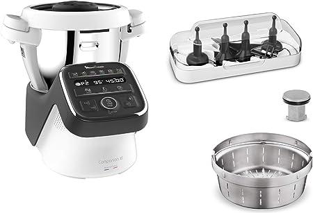 Moulinex Companion XL - Robot de cocina (4,5 L, 12 programas automáticos, preparación de sopas, carne, Gaspacho, Risotto, robot de cocina con libro recetas): Amazon.es: Hogar