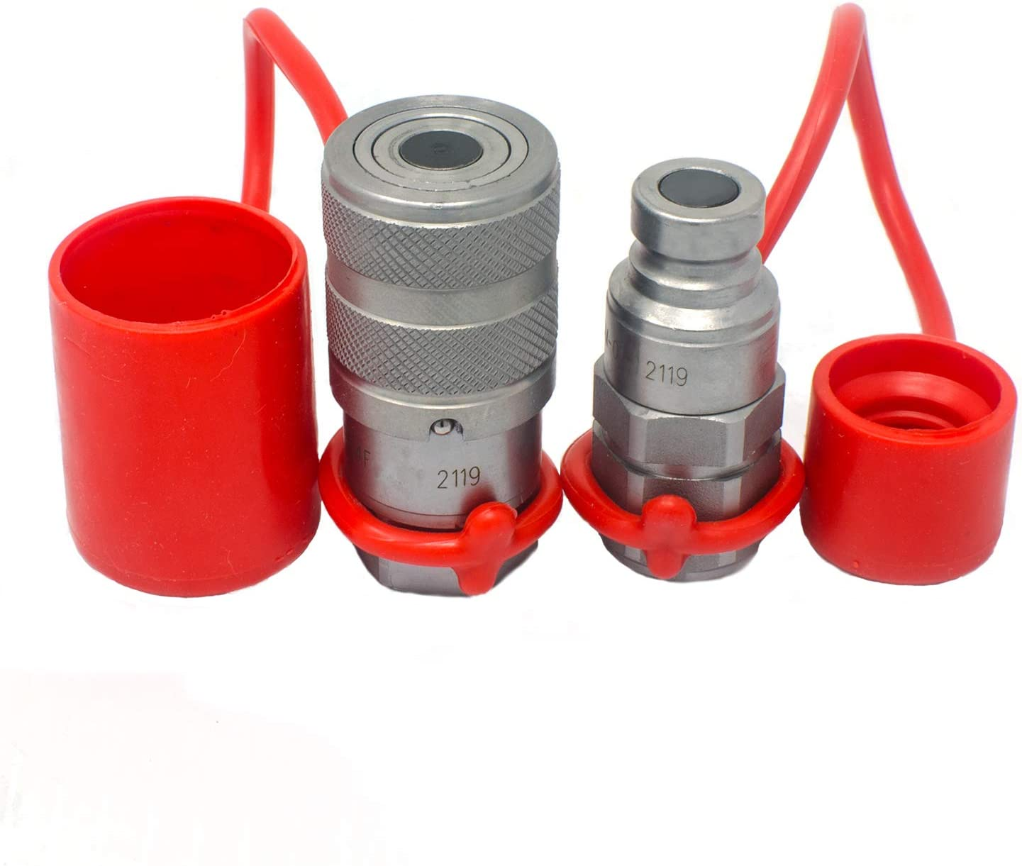 1//4 Coupling x 1//4-18 NPTF Dixon Valve /& Coupling 2HTF2 Steel Flush Face Hydraulic Quick-Connect Fitting Coupler