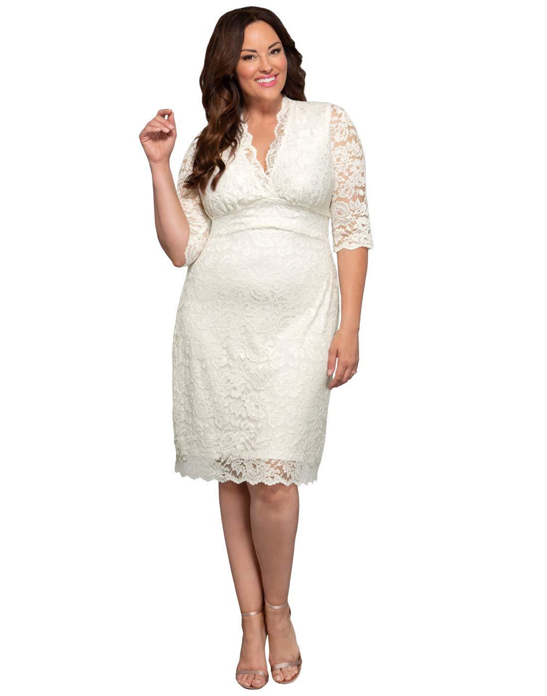 47d2acd8713 Kiyonna Women s Plus Size Luxe Lace Wedding Dress 4X Ivory. Home Brands Kiyonna  Dresses Kiyonna Women s Plus Size Luxe Lace Wedding ...