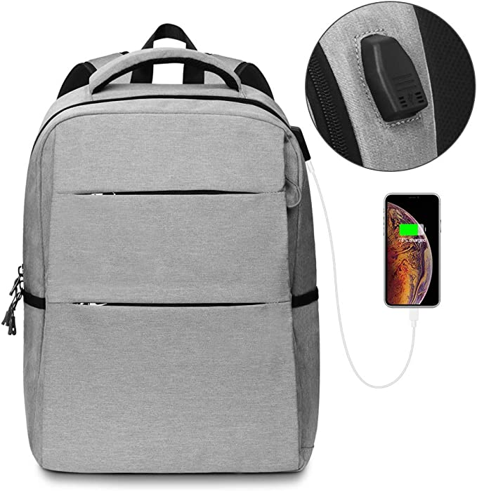 Travel Laptop Backpack 15.6 Inch with USB Charging Port Waterproof