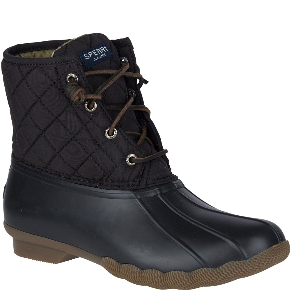 Sperry Top-Sider Women's Saltwater Boot, Black Quilted, 6.5 M US