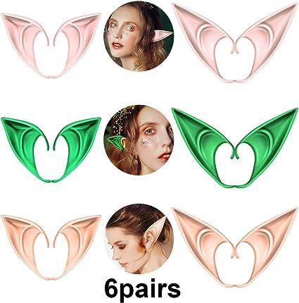 Latex Pointy Elf Fairy Pixie Cosplay Hook On Fancy Dress Ears Costume Accessory