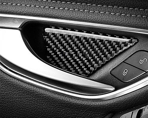 Carbon Fiber Car Door Handle Bowl Trim Cover 4pcs