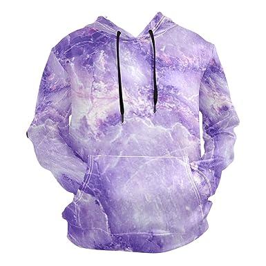 b7cbe7a5 Purple Marble Men's Hooded Sweatshirt Men's High Waist Sweatshirt at ...