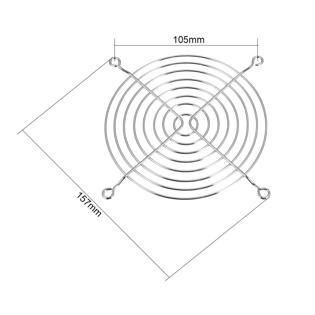 uxcell 10pcs Finger Guard Metal Fan Grill Protector for 120mm x 120mm Case Fan Silver Tone