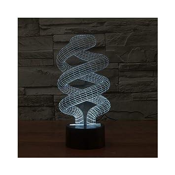 Amazon.com: Luz de noche 3D de acrílico estéreo LED creativa ...