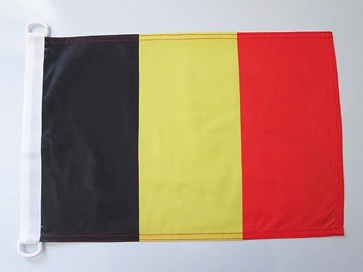AZ FLAG Bandera Nautica de BÉLGICA 45x30cm - Pabellón de conveniencia Belga 30 x 45 cm Anillos: Amazon.es: Hogar