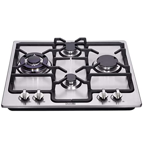 3892db7f165 Amazon.com  DeliKit DK245-B04 24 inch gas cooktop gas hob stovetop 4 ...