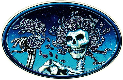 - Dye the Sky Grateful Dead Skull and Roses - Window Sticker/Decal (6
