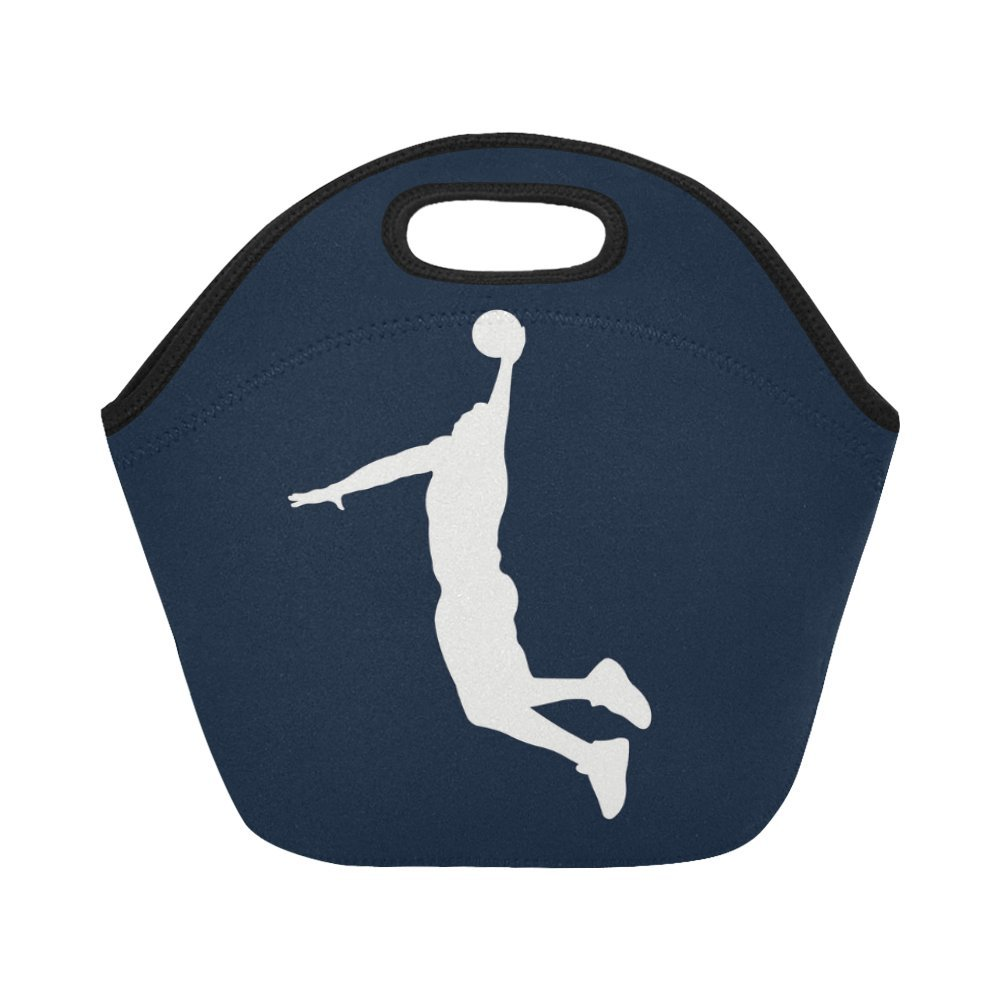 191f61fa8c66 Interestprint Insulated Lunch Tote Bag Basketball Player Silhouette ...
