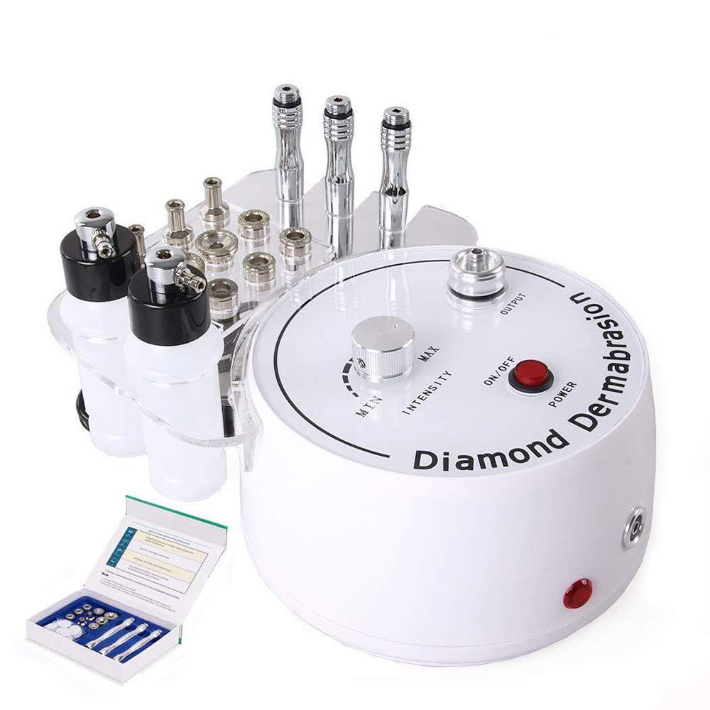 Diamond Microdermabrasion Dermabrasion Machine, TSEMY 0-55cmHg Suction Power Professional Dermabrasion Equipment for Skin Peeling Rejuvenation Lifting Tightening Beauty Device
