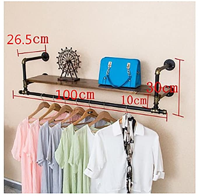 Amazon.com: Perchero de pared para guardar ropa, perchero de ...