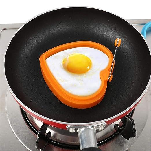 Keng Silicona Huevo Cocina Molde Amor Forma de Corazón Tortilla de Panqueque Anillo de Cocina Herramientas de Cocina para Hornear Accesorios: Amazon.es: ...