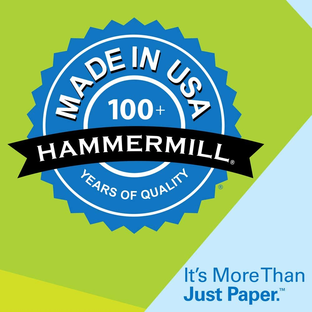 Hammermill Lilac Colored 20lb Copy Paper, 8.5x11, 1 Ream, 500 Total Sheets, Made in USA, Sustainably Sourced From American Family Tree Farms, Acid Free, Pastel Printer Paper, 102269R (102269C) : Multipurpose Paper : Office Products