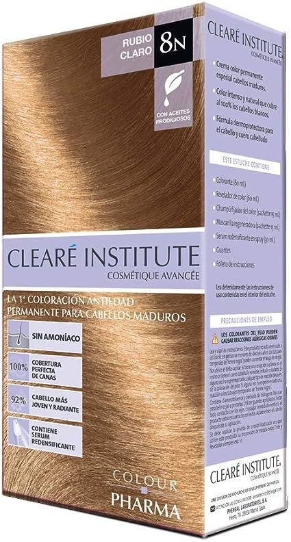 Colour Pharma|Tinte Sin PPD ni Amonicaco | Coloración Antiedad | 100% Cobertura de Canas Rebeldes, Con Serum Redensificante | 8N. Rubio Claro | 180ml