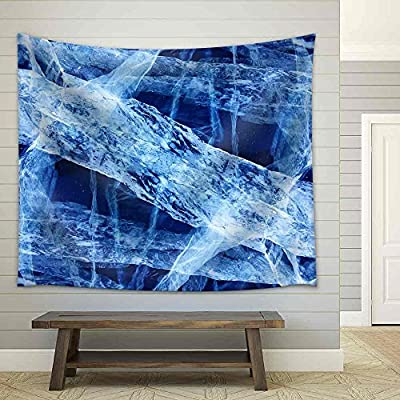 Made to Last, Fascinating Style, Texture of Ice of Baikal Lake in Siberia Fabric Wall