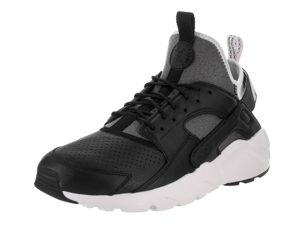 NIKE Mens Huarache Run Ultra Running Shoes B00EBAPCDU 13 D(M) US|Black / Black-white