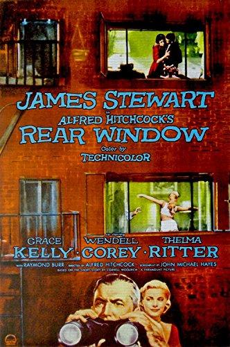 """Odsan Gallery Rear Window, James Stewart & Grace Kelly, Wendell Corey, 1954 - Premium Movie Poster Reprint 24"""" by 36"""" Unframed"""