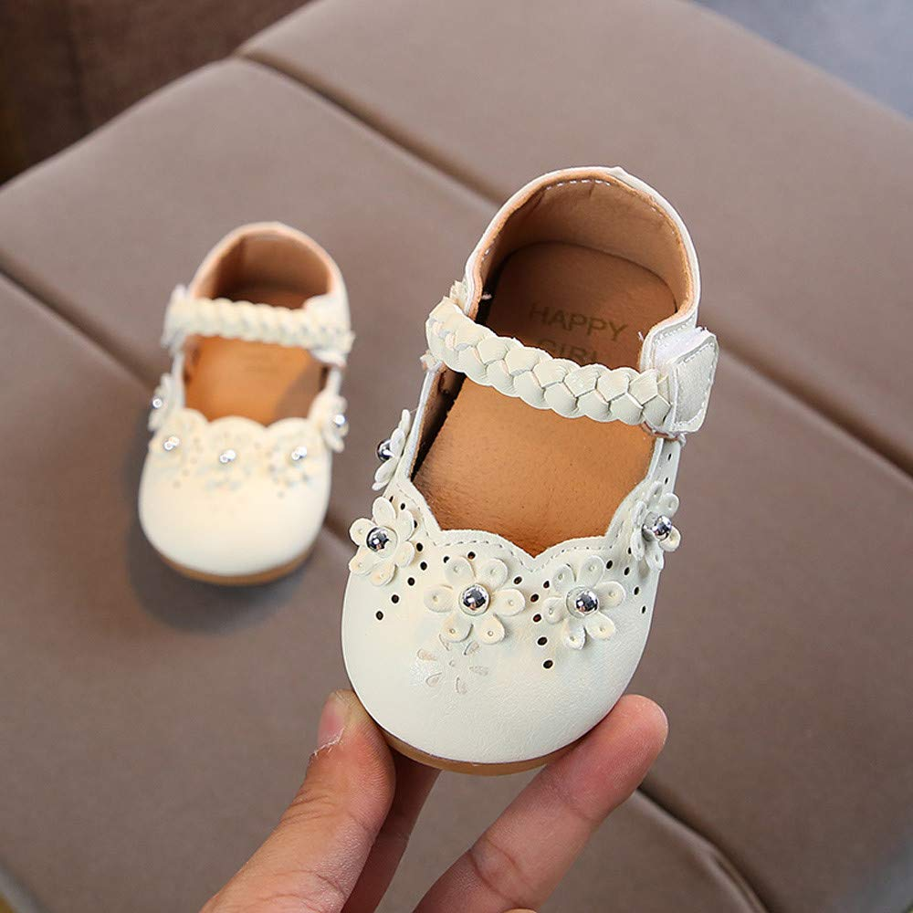 d51ea6ac7b6 Amazon.com  Infant Baby Toddler Girls Princess Shoes for 0-4 Years ...