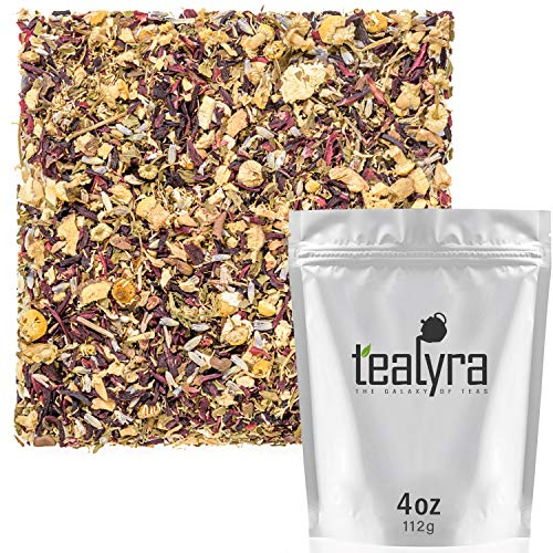 Tealyra - Night Time Detox - Lavender - Chamomile - Hibiscus - Licorice - Wellness Herbal Loose Leaf Tea - Digestive - Relaxing - Caffeine Free - All Natural - 112g (4-ounce)