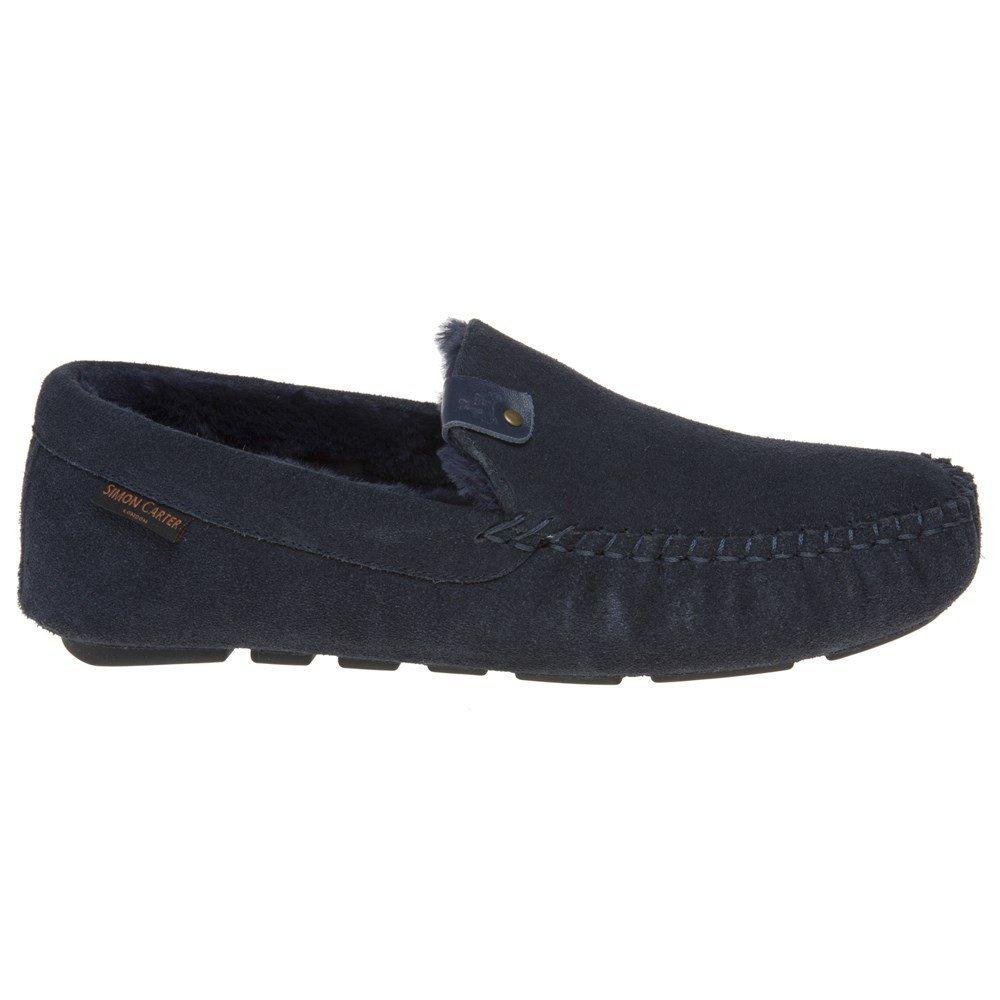 Simon Carter Hound Homme Chaussons Bleu  Amazon.fr  Chaussures et Sacs 8d0ca3eced8d