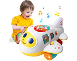 HOMOFY Baby Toy 12-18 Months Electronic Airplane Toddlers Toys for 1 Year Old Boys Girls with Lights & Music Kids Early Learn