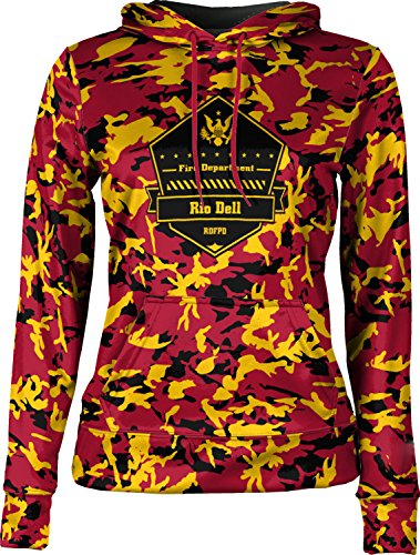 Price comparison product image Girls' Rio Dell Fire Protection District Fire Department Camo Pullover Hoodie