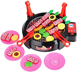 Kids Kitchen Pretend Play Set - Simulation Electric Barbecue Stove Toys Baby Kitchen Parent-Child Interactive Toys,Learning Toys for 2 3 4 Years Old Girls, Boys
