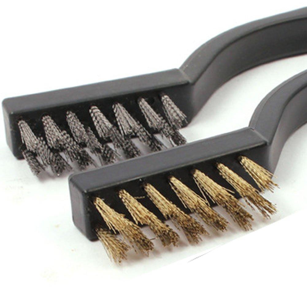r/ésidus et rouille Umsole Lot de 8/brosses de nettoyage en laiton et fil dacier inoxydable pour soudure