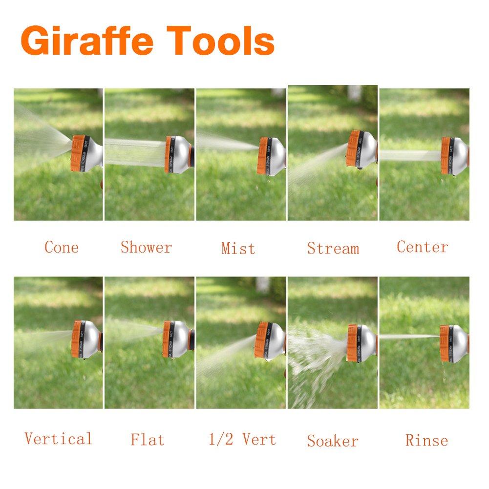 amazon com garden hose nozzle giraffe tools 10 pattern