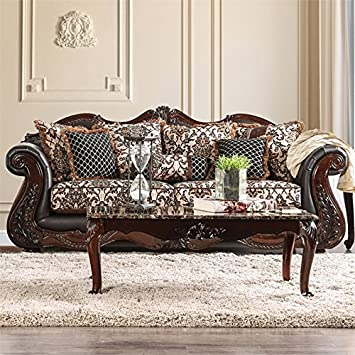 Pleasing Amazon Com Furniture Of America Conall Traditional Faux Creativecarmelina Interior Chair Design Creativecarmelinacom