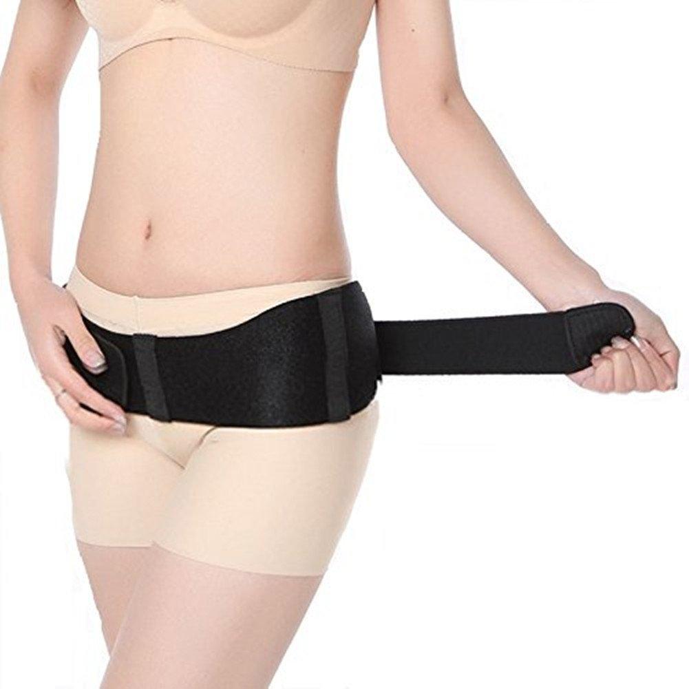 産後における骨盤矯正 肌に優しい 骨盤ベルト 薄型スリム フリーサイズ 腰痛改善 ダイエット効果 痩せやすい体に 看護師もおすすめ ブラック