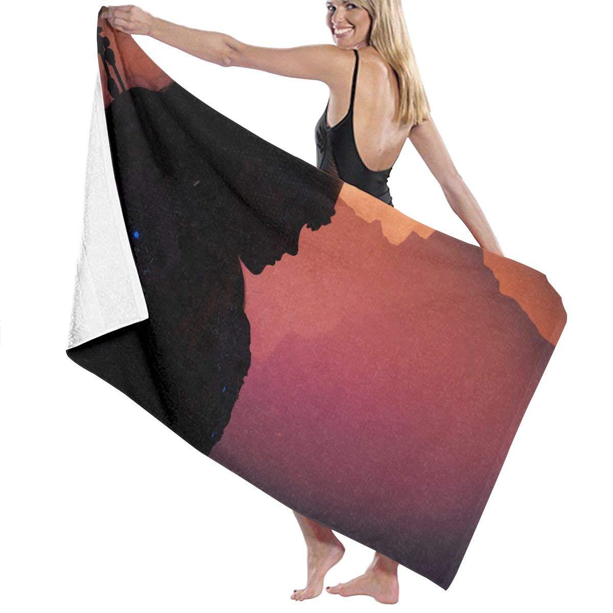 QWED Dawn Video Games Unisex Luxury Beach Towels Fashion Sauna Yoga Gym Towel