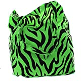 Lot of 6 Neon Animal Print Cotton Tote Zoo Party Favors