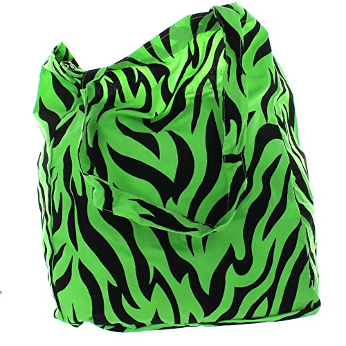 Lot of 6 Neon Animal Print Cotton Tote Zoo Party Favors by Fun Express