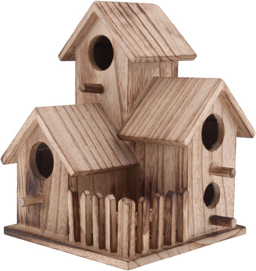 Sharplace Miniatura de Casa de Pájaros Nido de Madera Herramientas de Jardinería Decoración Hogar - 2
