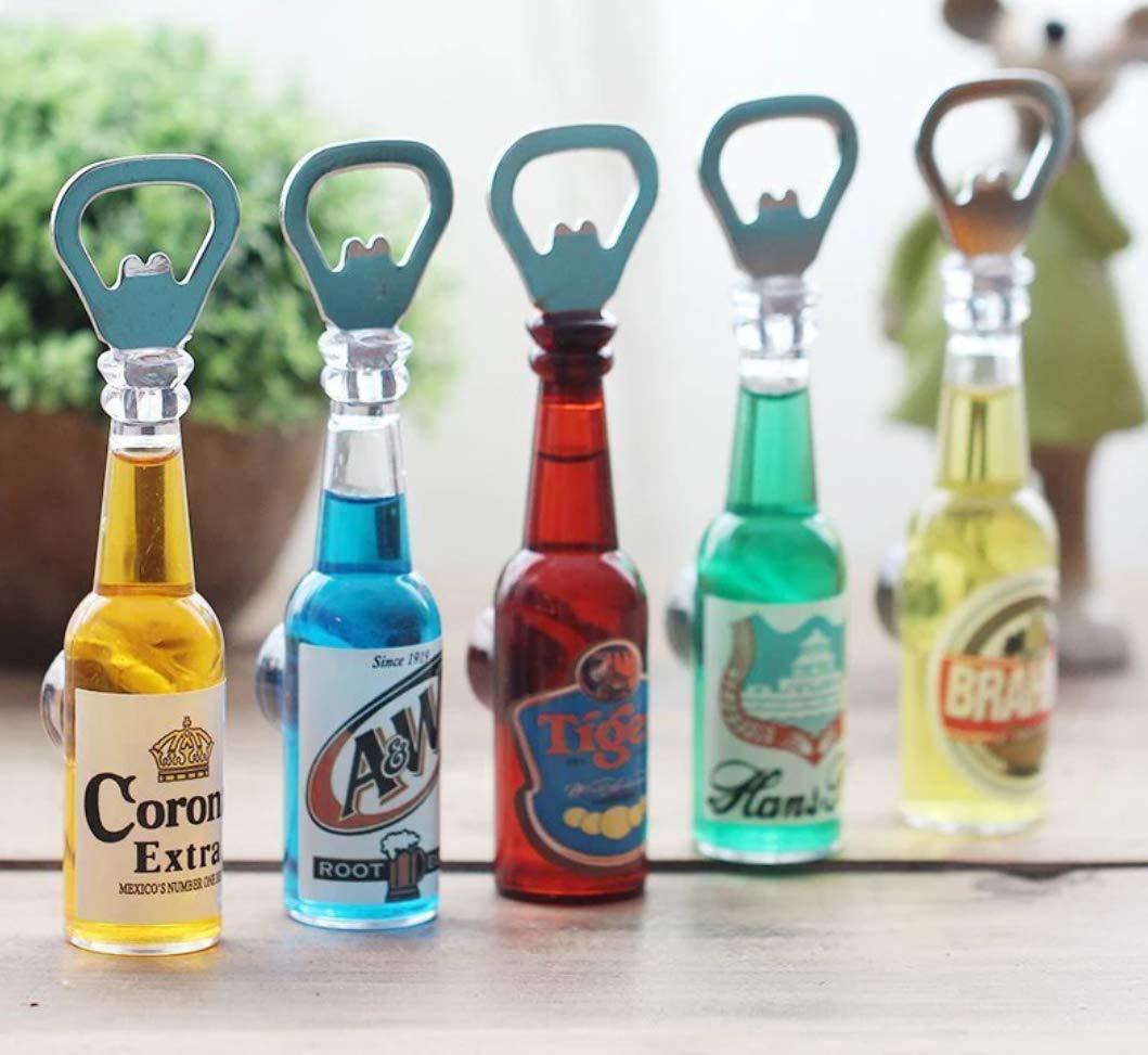 Craftize Mstore Beer Shape Bottle Opener Fridge Magnet Set of 1 (Random Design)