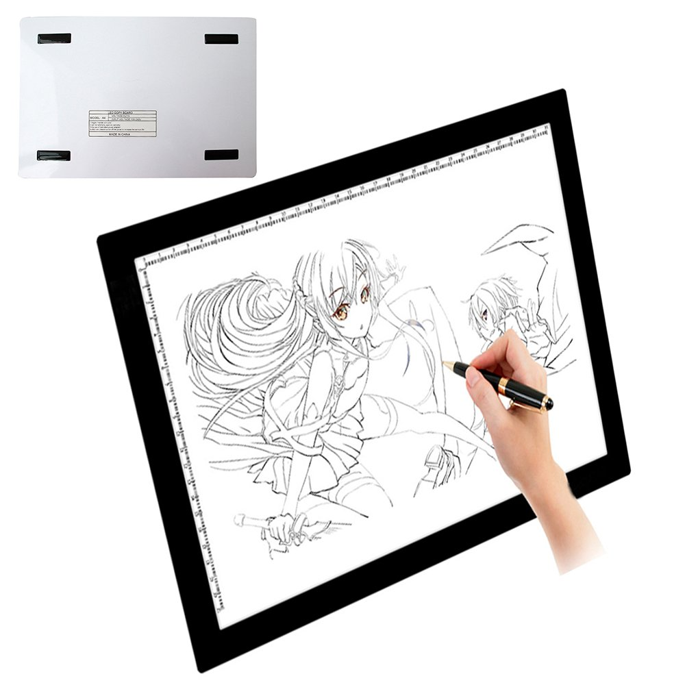 Light Pad Drawing A4 LED Tracing Light Box Adjustable Ultra Slim Tattoo Lightbox Tracing Photo Drawing Board Skyblue-uk SB19-0030@#UK01