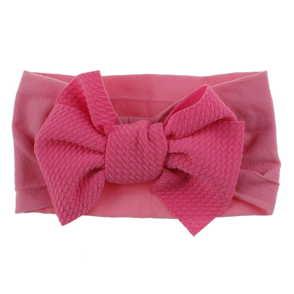Baby Girls Headbands Baby Head Wraps Baby Headbands and Bows Chiffon Flower (Hot Pink)