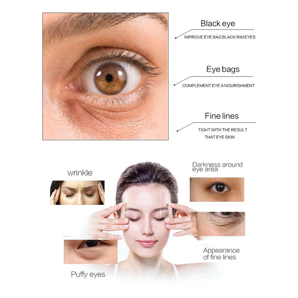 Gold Eye Mask 24k Eye Pads - Anti-Aging Hyaluronic Acid Under Eye Mask & Patches for Moisturizing & Reducing Dark Circles Puffiness Wrinkles - Eye Gel Pads from Puffy Eyes Collagen Eye Pads