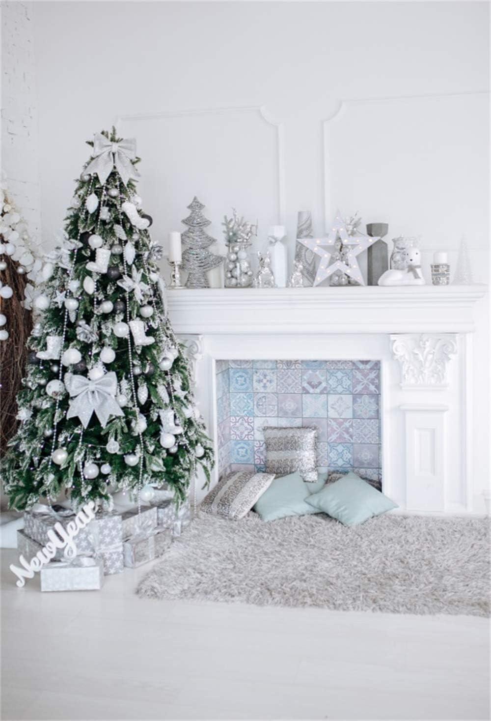 Christmas Digital Photography Backdrop Newborn Photo Shoot Prop Baby Boy Background Lilac Ornaments 5 feet