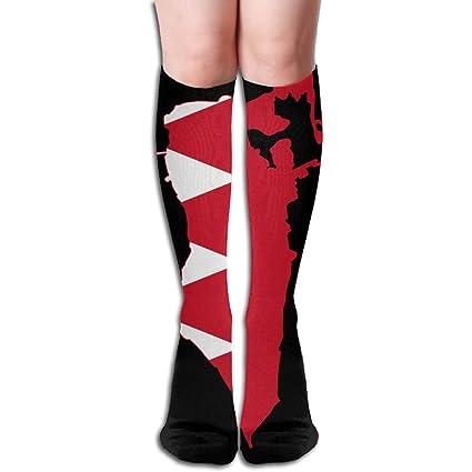 Bandera de Bahrein Mapa acogedor para hombre Classic athletic calcetines de rodilla de compresión para Yoga