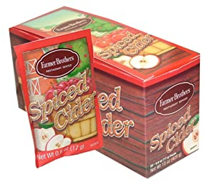 Farmer Brothers Instant Apple Spiced Cider Packets, 25 Packets Per Box