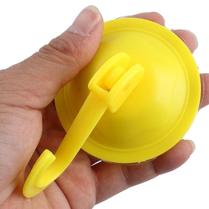 eDealMax plástico de baño Aseo Toalla suspensión de ropa ventosa gancho 7cm Dia 2pcs amarillo - - Amazon.com