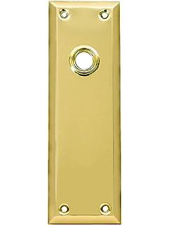 "1 1//2/"" Keyhole Cover Plate Escutcheon Furniture Brass Key Hole Lock Plate"