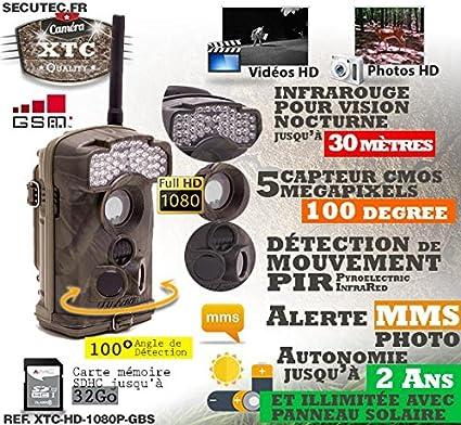 Derni/ère g/én/ération Cam/éra de Chasse Autonome HD 720P IR avec Batterie Solaire